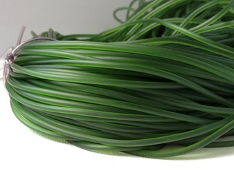 5 Yards 2mm Green Synthetic Rubber Cord - No Hole - Solid