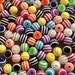 Striped Rainbow Gumball Resin Round Beads - 20 pcs - 10mm Assorted Color