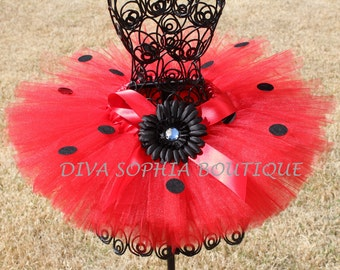 Lady Bug Tutu - Birthday Tutu - Infant - Toddler up to Size 4T