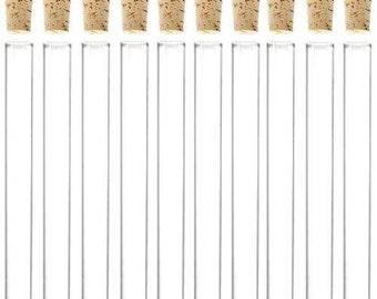 40 pack GLASS TEST TUBES with corks