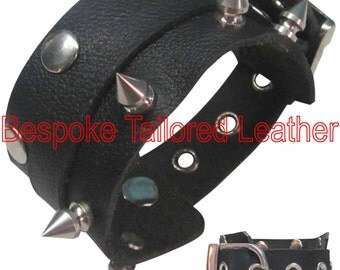 Stud & Rivets Leather Wristband WBN005