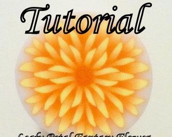 Polymer Clay Cane Tutorial - TUTORIAL - Leafy Petal Fantasy Flower Cane
