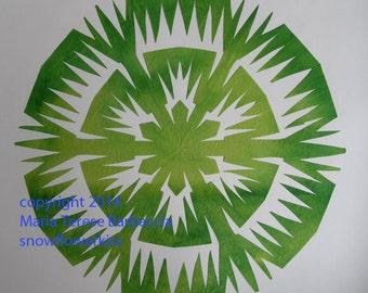 snowflake, paper cutting, scherenschnitte, kirigami, hand cut snowflake, design