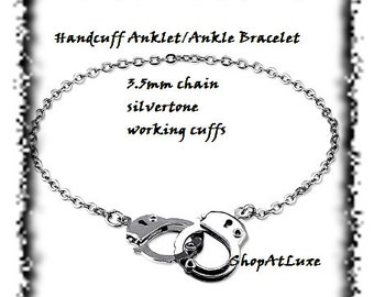 Super Cute Silver Handcuff Anklet - Ankle Bracelet