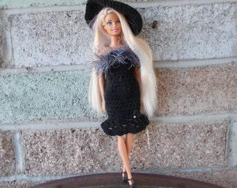 Crocheted Barbie Dress Barbie Clothes