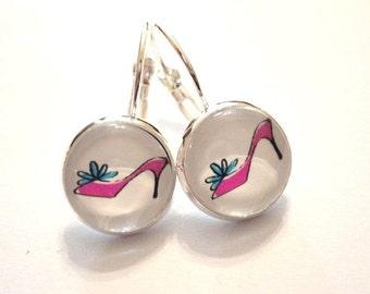 Earrings Pink High Heels
