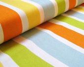 Oh Deer! stripe creamsicle cotton fabric by MoMo 1 yard