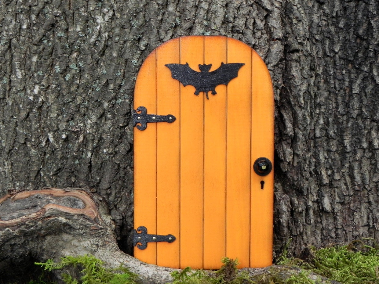 Fairy Door Fairy Garden Halloween Miniature Pumpkin Orange