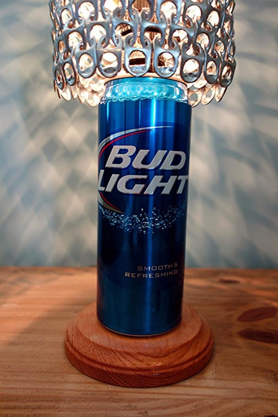 Giant Bud Light Beer Can Lamp With Pull Tab Lamp Shade The
