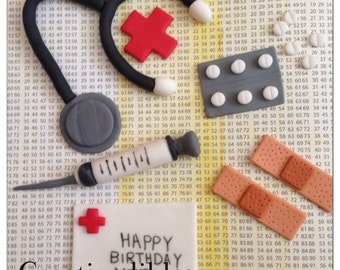 Medical Doctor/ Nurse Cake Fondant Toppers