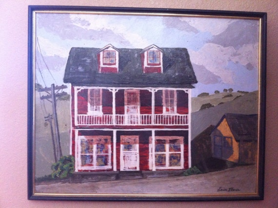 Old farmhouse rustic country paintingOld Farmhouse Painting
