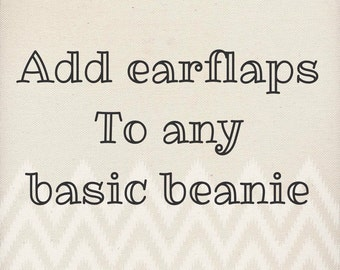 Add earflaps and braids to any basic beanie