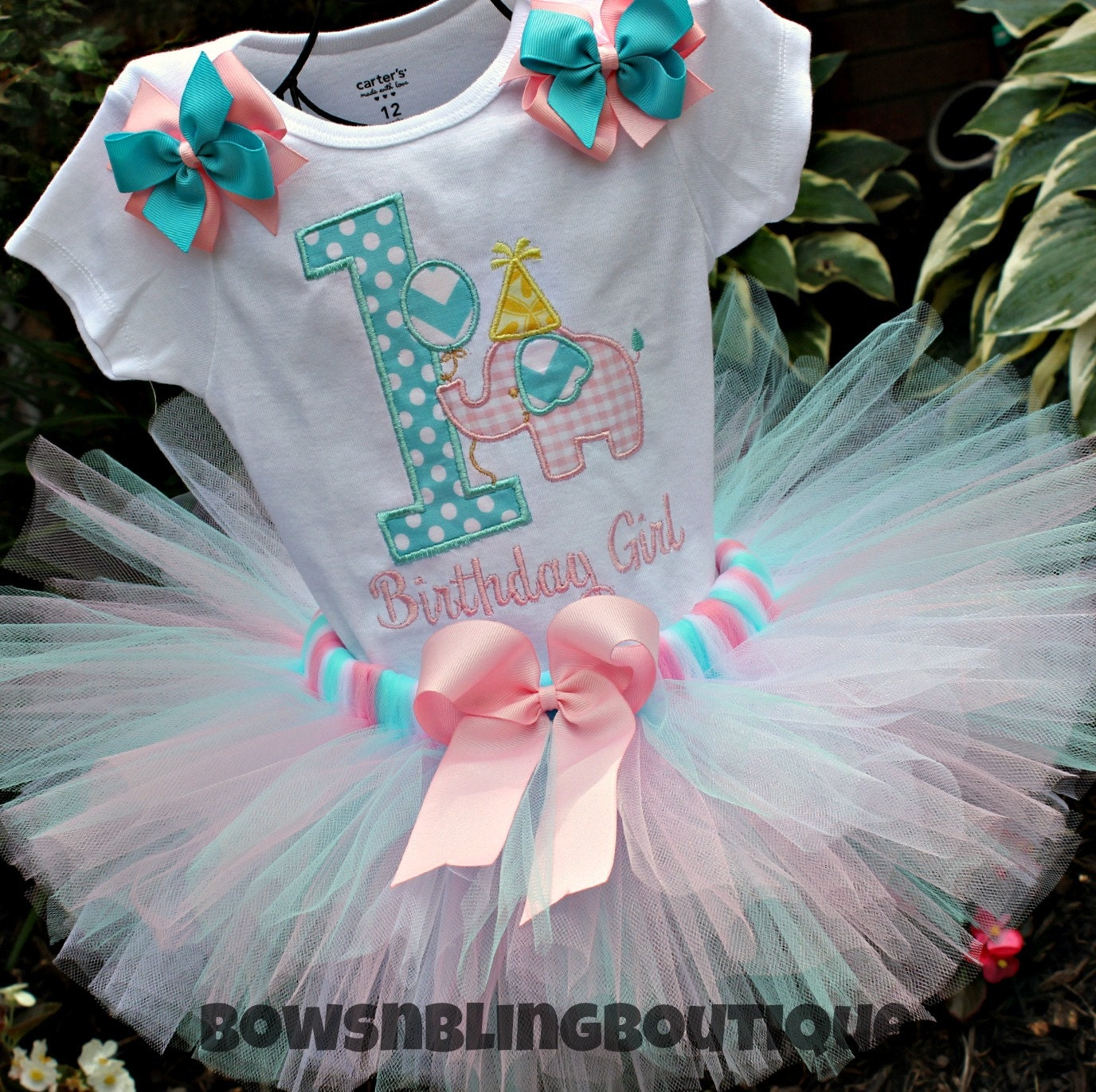 First Birthday Outfit Elephant 1st Birthday By