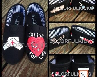 Nursing Canvas Slip-On Shoes