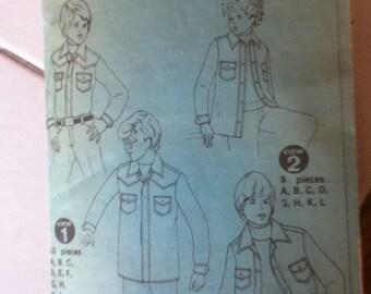 Simplicity Vintage Boy's Shirt Pattern 6641 Size: 8