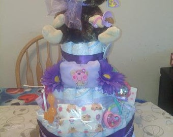 Cute Monkey Diaper Cake