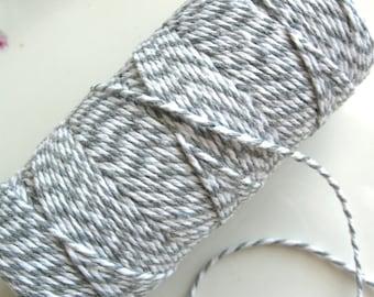 Light Gray Baker's Twine 100 Yard Spool | Grey Baker's Twine | Light Gray and White Baker's Twine | Grey Twine | Light Gray Twine