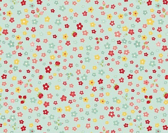 Fabric Sweetest Thing Petals in Blue by Zoe Pearn for Riley Blake Designs 1 Yard