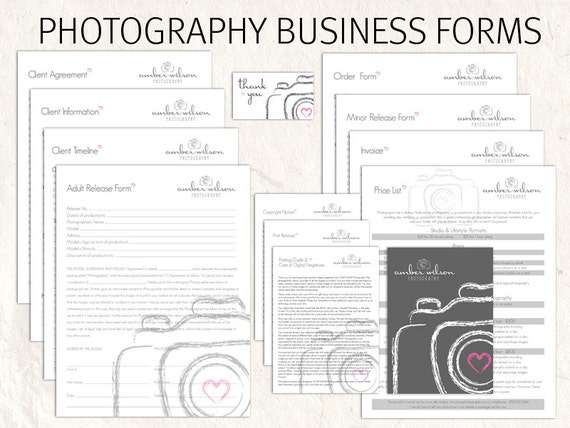 Photography business forms kit sketch camera style editable photography business forms kit sketch camera style editable templates 13 psd files supplied wajeb Gallery