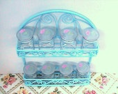 Agua spice rack with eight glass jars - ValerysGallery
