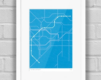 London Underground Victoria Line Route - Limited Edition Giclée Art Print
