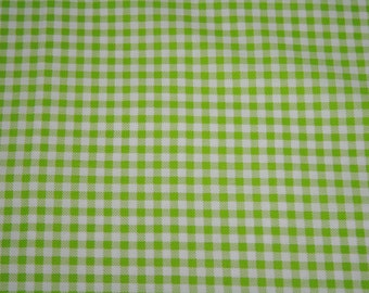 """Picnic Pals - Gingham 1/4"""" Lime Green"""