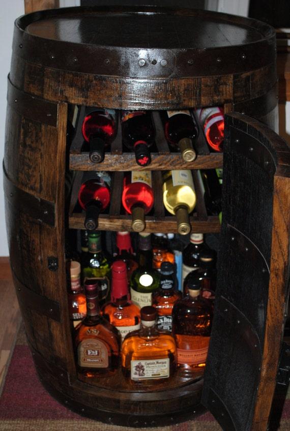 Whiskey Barrel Liquor Cabinet W Lazy Susan Amp Built By