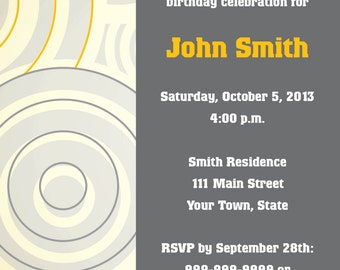 Gold and Gray Circle Invite