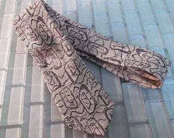 Givenchy Skinny Tie - Black White Silk Tie - Abstract Paris I.Magnin - For the tie curator