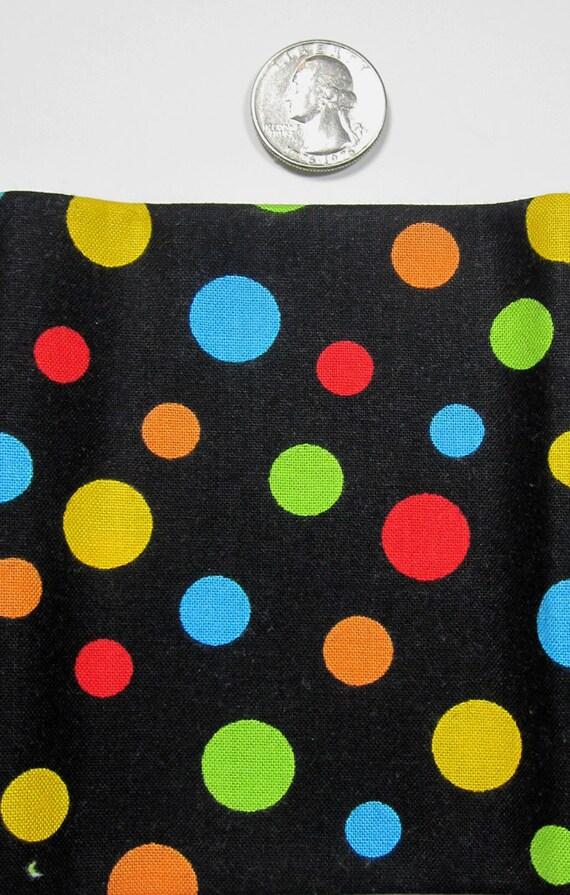Black Bright Multi Confetti Dot From Rjr Fabrics Crazy For