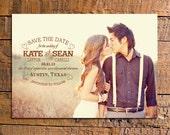 DIY Printable Rustic Photo Save the Date - Kate