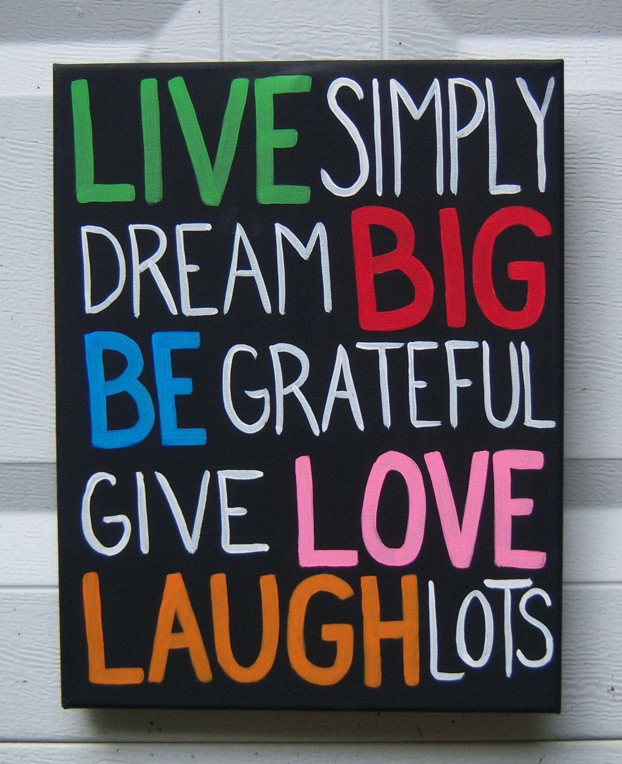 canvas painting words to live by