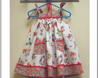 Sewing pattern Daisy Sun Dress, baby girls pdf dress pattern and sewing tutorial, childrens sewing patterns by Felicity Sewing Patterns