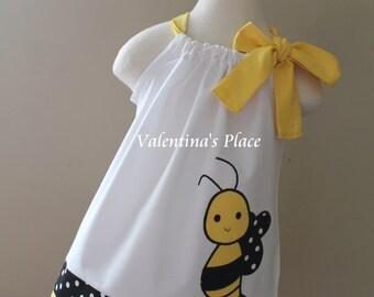 Adorable Bumble Bee pillowcase dress