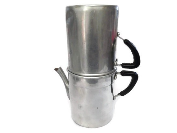 Italian Coffee Maker Aluminum : Items similar to Vintage Coffee Machine, Coffee Maker, Napolitan Coffee Pot, Expresso Maker ...