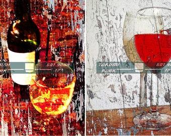 Wine Wall Art Set Prints, Kitchen Wine Décor, Gift For Wine Lover, Wine Photo Print, Art Sale, Dining Room Wall Art Print, Bar or Den Decor