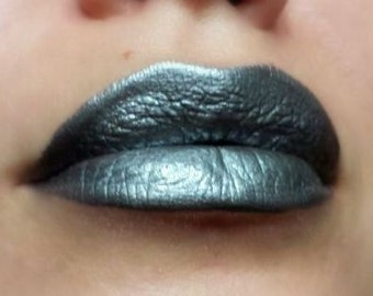 Quicksilver - Dark silver/Metallic Gray Nourishing Lipstick - All Natural