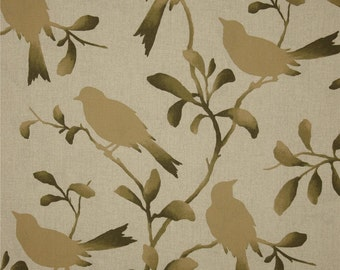 Rockin Robin Driftwood cotton fabric by the yard birds Magnolia Home Fashions