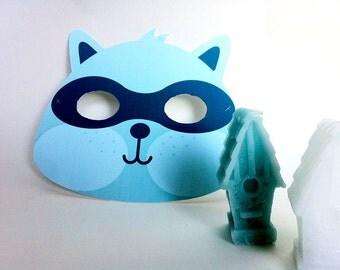 INSTANT DOWNLOAD - PRINTABLE Eyemask - Raccoon