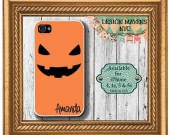 Halloween iPhone Case, Pumpkin iPhone Case, Personalized iPhone Case, iPhone 4, 4s, iPhone 5, 5s, 5c, iPhone 6, 6 Plus, Phone Case