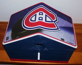 Montreal Canadians License Plate Birdhouse/Fathers Day Gift, Sports, NHL, Hockey, Birthday, Mothers Day, Christmas Gift