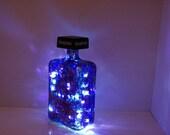 Painted Bottle Light - Accent Light - Up Cycled  Liquor Bottle Lamp