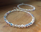 Swarovski Crystal Dangling Hoop Lever Back Earrings