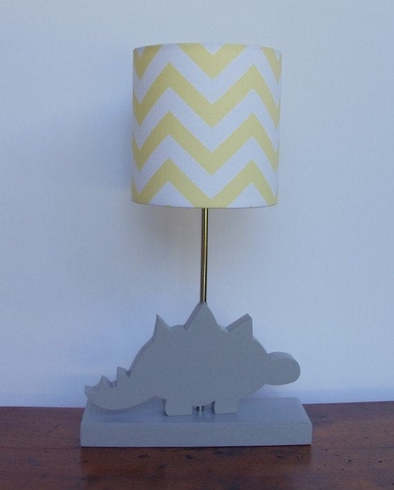 small light yellow white chevron drum lamp by perrelledesigns. Black Bedroom Furniture Sets. Home Design Ideas