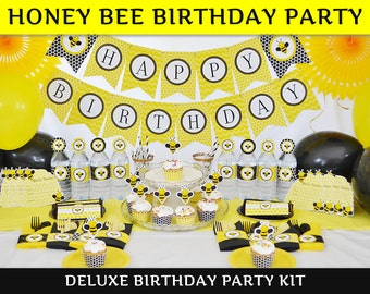 Bee Party / Bee Birthday Party / Bee Party Decorations / DELUXE Party Supplies