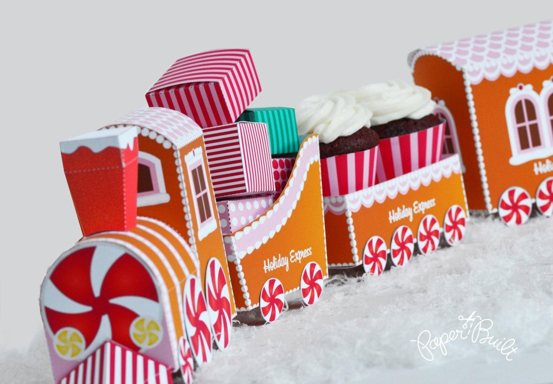 Gingerbread Train Cars photo