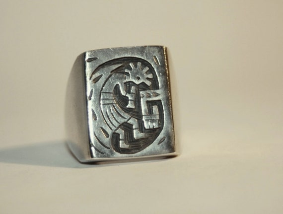 vintage hopi sterling silver kokopelli ring by by