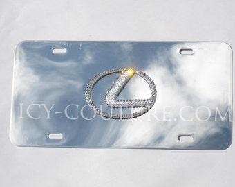 LEXUS Crystal BLING 3D logo Swarovski License PLATE