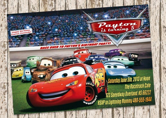 Disney Cars Invitations is great invitations layout