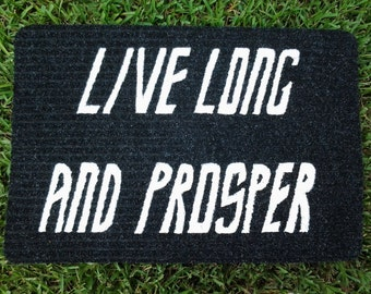 Live Long and Prosper Welcome Mat